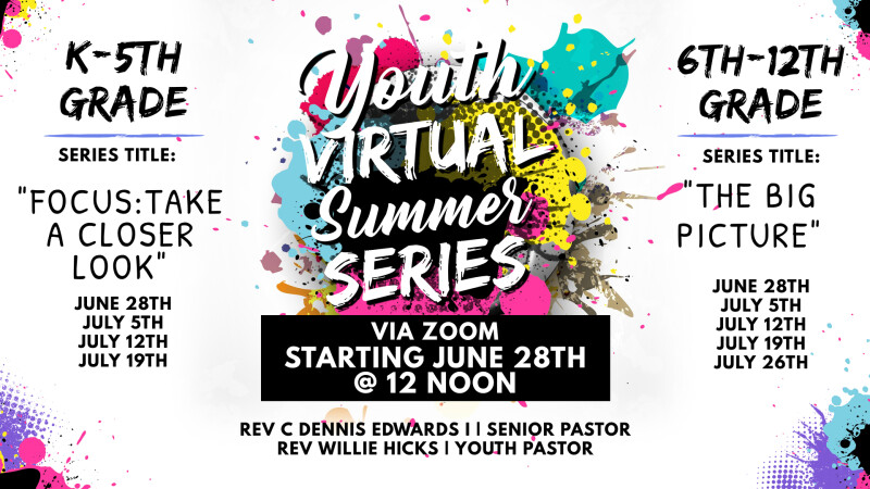 12 PM Youth Virtual Summer Series
