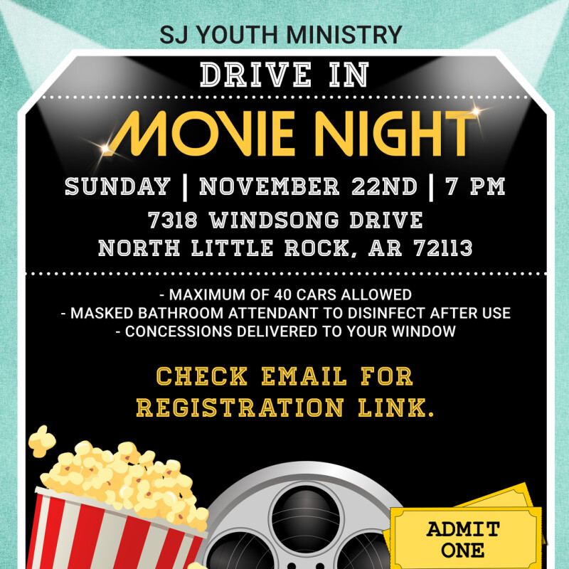 SJ Youth Ministry Drive In Movie Night